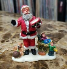 Lemax Christmas Village figurine Santa Clause Sorting Gifts Holiday Decor
