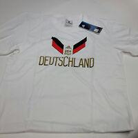 Adidas Originals DFB Deutschland Fußball T-Shirt, weiß mit Motiv - B-Ware Gr. XL