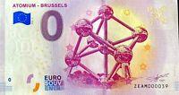 BILLET 0  EURO ATOMIUM BRUSSELS  BELGIQUE  2018  NUMERO 39