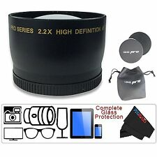 I3ePro 58MM 2.2X Telephoto Zoom Lens For Canon 18-55mm 75-300mm 55-250mm 50mm1.4