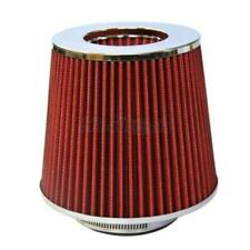 4Inch Chrome Inlet High Flow Short Ram/Cold Intake Round Cone Air Filter RED