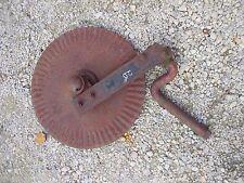 """Farmall IH plow 20"""" rolling rollin cutter wheel disc disk mounting brace bracket"""