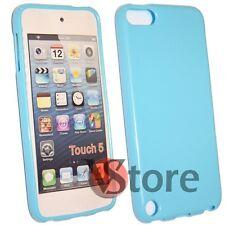 Cover Custodia Per iPod 5 Azzurro Silicone Case Gel + Pellicola Salva Display