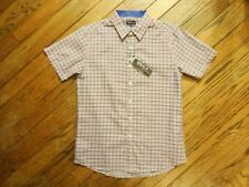 New!  Men's Galaxy Plaid Short Sleeved Shirt   Size M