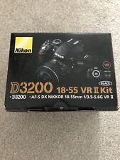 Nikon D3200 24.2MP Digital SLR Camera AF-S DX VRII 18-55mm Lens, Bag,Memory Card