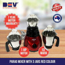 Parag Indian mixer grinder 1 HP with 3 Jars (1 Year Motor warranty) Cherry AU St
