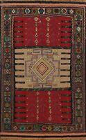 Geometric Kilim Flat-Woven Oriental Area Rug Wool Hand-woven Nomad Carpet 4x6 ft