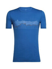 Icebreaker Tech Lite SS Crew Shirt (M) Haute Route / Sea Blue