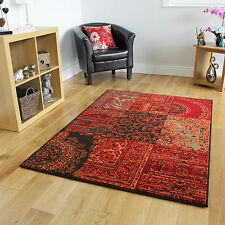 Warm Orange Red Rugs Traditional Small Large Rugs New Patchwork Modern Carpets