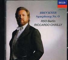 CD album: Bruckner: Symphony N°0. Riccardo Chailly. Decca. F