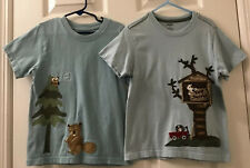 Two Boy's Gymboree Short-Sleeve Shirts, Door On Shirt Opens, size 4T, Great Cond