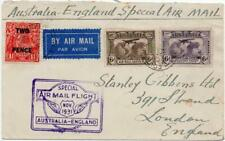 Australia: 1931 Examples on Special Flight Airmail Cover to London (36228)