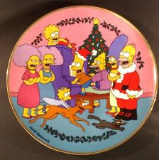 Franklin Mint Boxed CAROLING WITH THE SIMPSON Matt Groening Plate No L4283(192G)