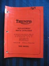 Triumph Original Parts Manual 1969 Trophy 250 TR25W