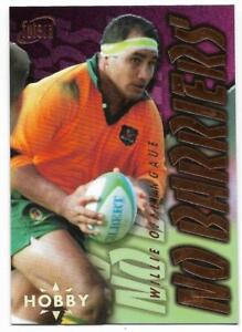 1996 Futera Rugby Union NO BARRIERS (NB5) Willie OFAHENGAUE Sample Hobby