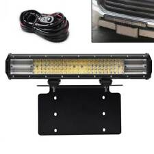 "FIT TOYOTA SUV Truck Front Bumper License 8D Tri-Row 20"" 288W LED Light Bar"