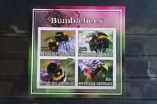 Insetti 10 Insects bombi bumblebees Gabonaise 2017 ANIMALI ANIMALS fauna ** MNH