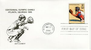 CENTENNIAL OLYMPIC GAMES, BASEBALL , FDC  WASHINGTON DC 1996 FDC10506