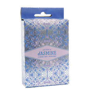 Jasmine Incense Cones Home Fragrances Aroma Scent Relaxing Holder Plate Insence