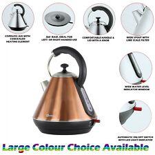 Copper 1.8L Litre Cordless Electric Kettle Fast Boil Jug Washable Filter 2200W