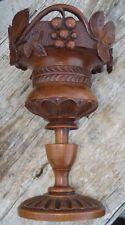 -Coupe décorative Calice Bois sculpté Raisin Feuilles de Vigne Forêt Noire