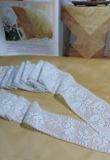 Tramezzo bordura pizzo lavorata all uncinetto n.25 x lettino  con federa .