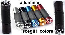 Manopole Moto o Scooter Alluminio Gomma Universali + contrappesi Vari Colori S42