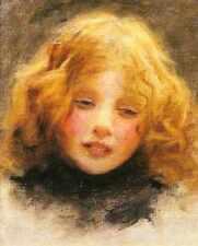 Elsley Arthur John Head Study Of A Young Girl A4 Print