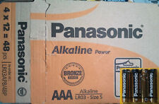 48x pila alcalina AAA Lr03 1 5V Panasonic Alkaline Power caja completa 12 packs