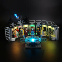 LED Light Kit For LEGO 76125 Iron Man Hall of Armour Model Building lighting
