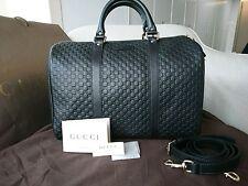 Gucci Microguccissima leather handbag GG Boston bag black