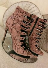 Womens ASOS shoes size 7, Strappy sandals, snake skin, Lace Up shoes, high heels