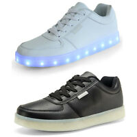 New Fashion LED Light Shoes USB Charge Colorful Luminous Soles Unisex Shoes