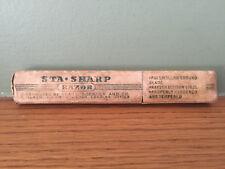 Vintage Sears & Roebuck Sta Sharp Straight Razor BOX ONLY