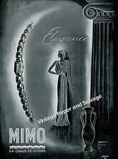 1942 Mimo Watch Company La Chaux-de-Fonds Switzerland Vintage Swiss Print Ad