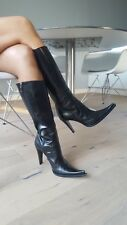 Sexy Icone by Gianmarco Lorenzi High Heel Stiletto Leder Stiefel Spitze Gr 39