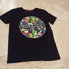 Old Navy brand Super Mario Brothers Shirt Top Black Short Sleeve Graphic XL Kids