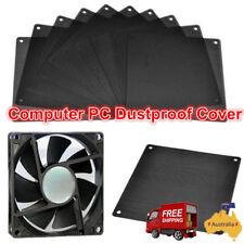 10x PVC PC Cooler Fan Dustproof Case Cover Dust Filter Mesh Black 120 x 120mm