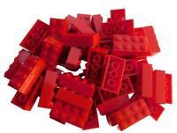 Lego 50 Stück rote Steine 2x4 Basicsteine (3001) Stein Neu City Basics Bausteine