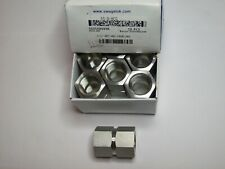 1 Swagelok Stainless Steel Pipe Fitting, Hex Coupling, 1/2