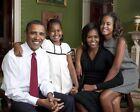 OBAMA FAMILY PORTRAIT AT WHITE HOUSE 2009 11x14 SILVER HALIDE PHOTO PRINT