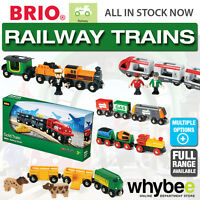 BRIO Railway Trains for Wooden Train Set - Safari - Steam - Travel Children Kids