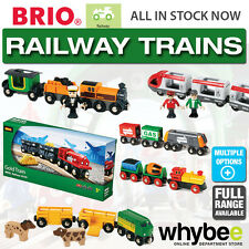 BRIO Railway Trains for Wooden Train Set - Safari - Steam - Travel Children Kids