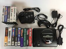 Sega Genesis 1601 System Console Game Lot - Sonic Risk Madden - Controllers A8
