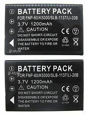 2XBattery For Kodak EasyShare LS420 LS443 LS633 LS743 LS753 Digital Camera 1.2A
