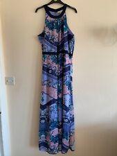 Yumi pink and purple flower maxi dress UK size 16/44 Brand New Without Tags