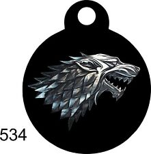 STARK Cute Custom Personalized Pet ID tag for Dog /Cat ROUND  uniqueTag collar