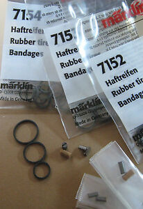 Ersatz-Haftreifen+Kohlebürsten für MÄRKLIN-H0-Loks #HRT