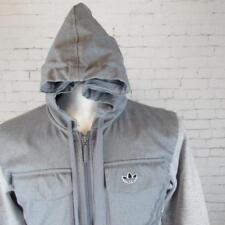 Para hombres De colección Adidas Originals Con Capucha Cremallera Chaqueta de pista retro Britpop XS