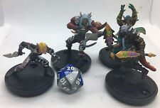 Lot Of 4 WOW PREPAINTED MINIATURES Set E Large Scale Elves For RPG Tabletop DND